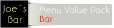 Font Menue Card Bar Value Pack