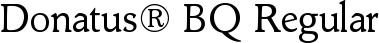Font Donatus� BQ Regular