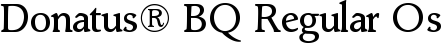 Font Donatus� BQ Regular OsF