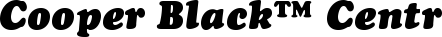 Font Cooper Black™ Central European Italic
