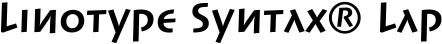 Font Linotype Syntax� Lapidar Text Bold