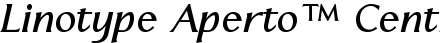 Font Linotype Aperto™ Central European Bold Italic