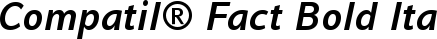 Font Compatil� Fact Bold Italic