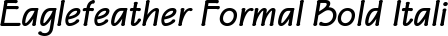 Font Eaglefeather Formal Bold Italic