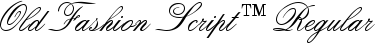 Font Old Fashion Script™ Regular