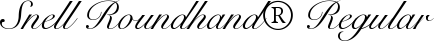 Font Snell Roundhand� Regular