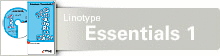 Font Linotype Essentials 1 CD for Mac OS and Windows