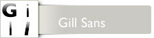 Font Gill Sans™ Adobe Family CD for Mac OS and Windows