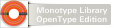 Font The Monotype Library OpenType Edition Version Two