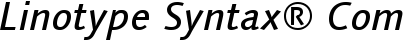 Font Linotype Syntax� Com Medium Italic
