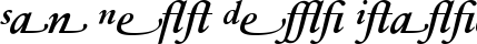 Font Sabon� Next Demi Italic Alternate
