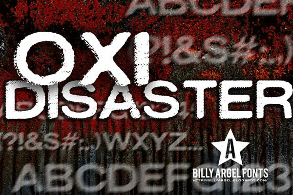 Oxidisaster - Font Illustration