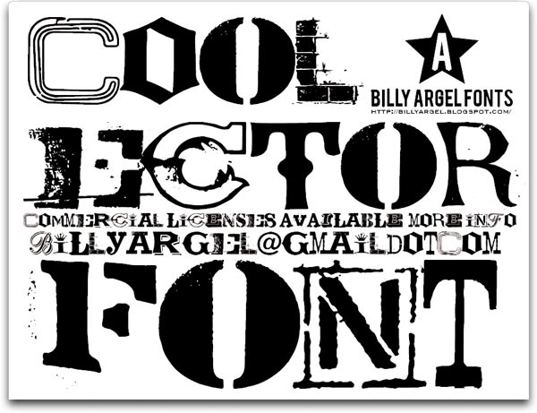 Coolector - Font Illustration
