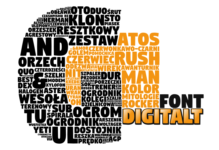 Digitalt - Font Illustration