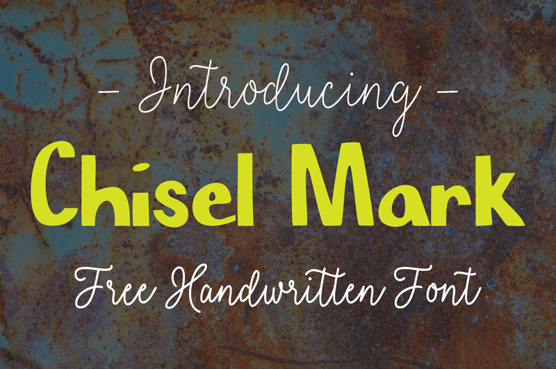 Chisel Mark - Font Illustration