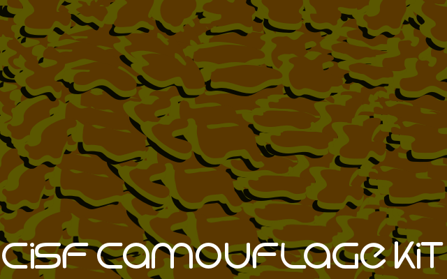 CISF Camouflage Kit Outline - Font Illustration