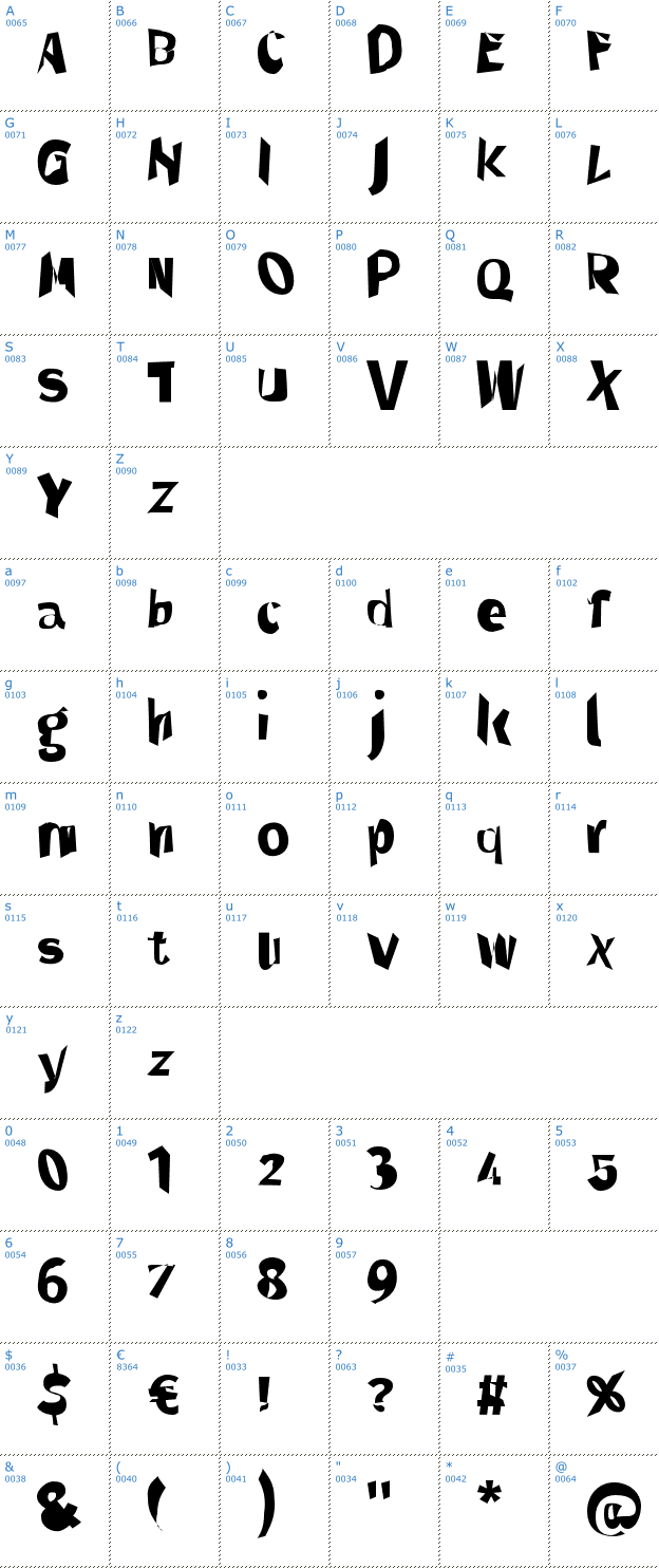 Schriftzeichen Through The Black Font